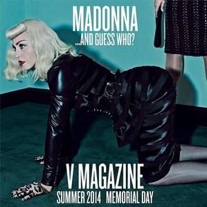 Madonna en Une de V