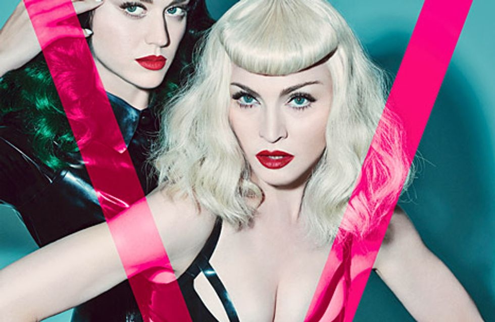 Madonna et Katy Perry : Tenues hot pour la Une de V magazine (Photos)
