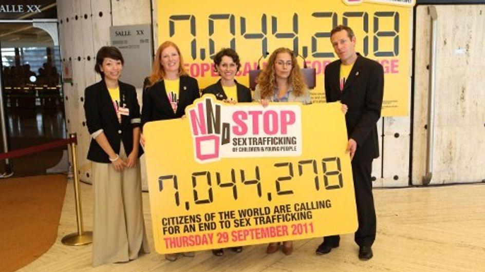 7 millones de firmas para detener la trata de menores con fines sexuales