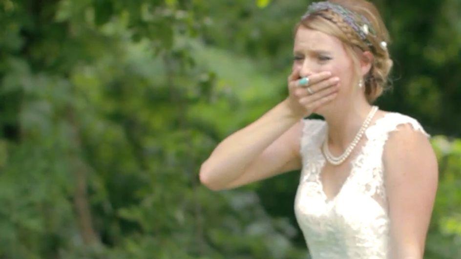 Warum diese hübsche Braut in Tränen ausbricht? Der Grund ist einfach wundervoll!