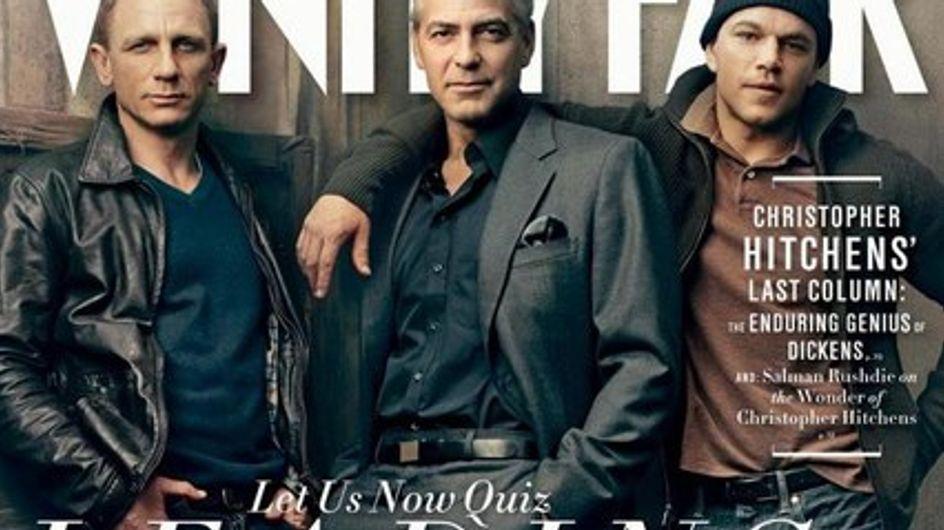 Damon, Craig y Clooney se sinceran para Vanity Fair