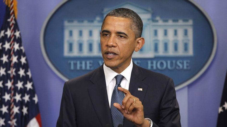 Obama recibe en La Casa Blanca a Angelina Jolie y Brad Pitt
