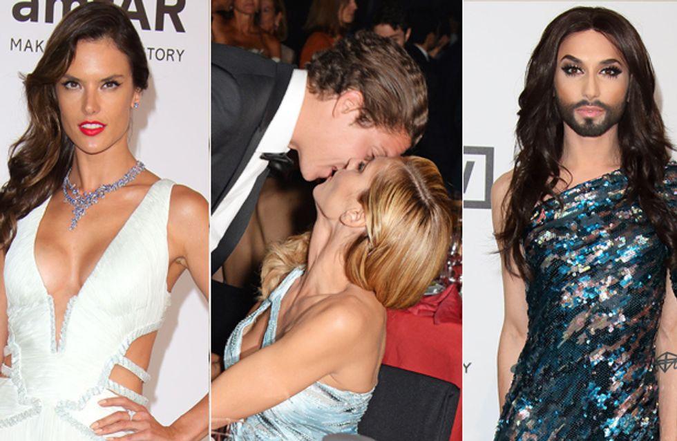 Viel Haut, ein Liebespaar & eine Wurst: Die Highlights der amfAR-Gala in Cannes