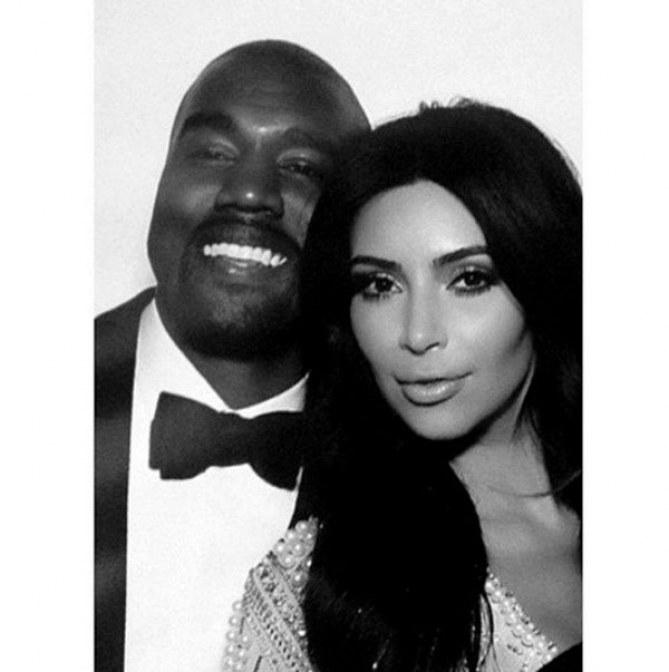 Kim Kardashian et Kanye West, jeunes mariés