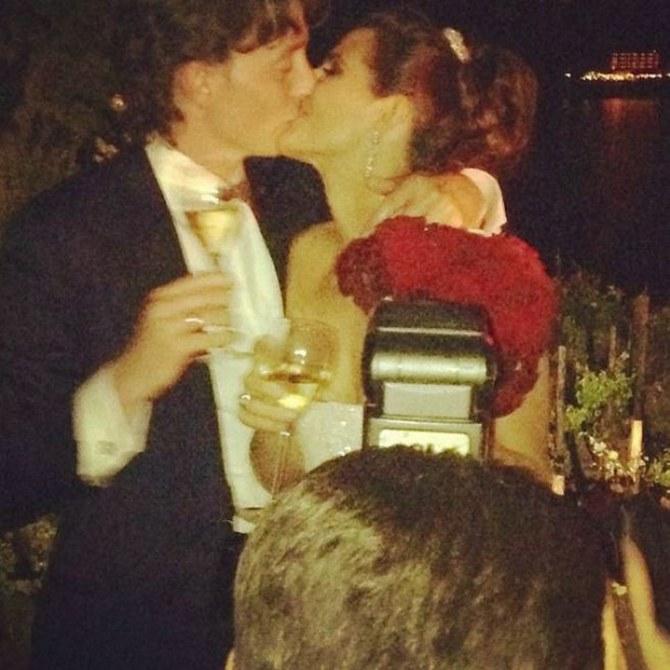 Riccardo Montolivo e Cristina De Pin nel giorno delle nozze