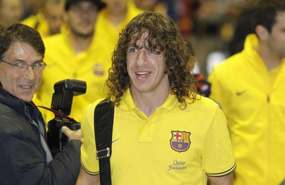 Carles Puyol pasea su amor por las calles de Barcelona