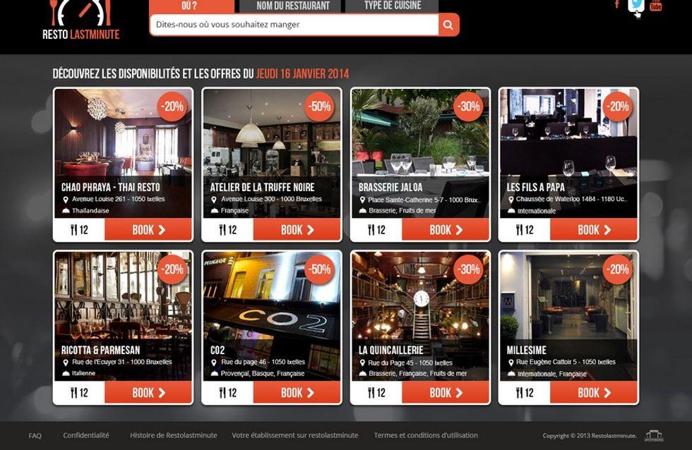 Restolastminute.com, de nieuwste manier om een tafel te boeken