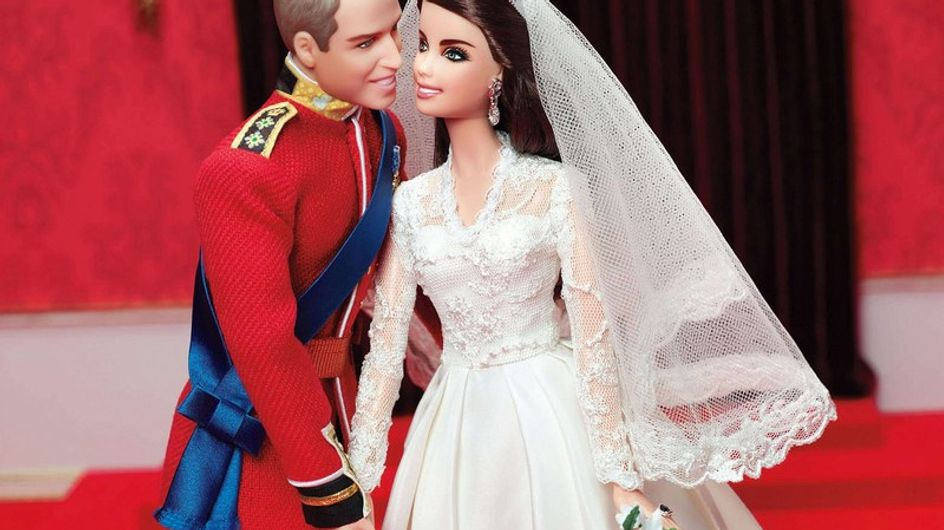 Guillermo y Catalina se convierten en Barbie y Ken