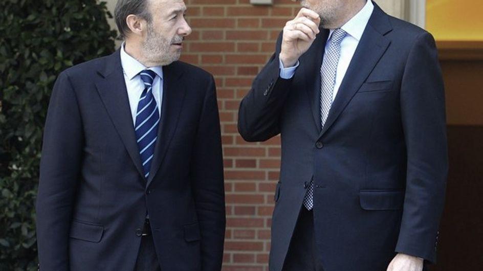 Mariano Rajoy y Alfredo Pérez Rubalcaba suspenden en imagen
