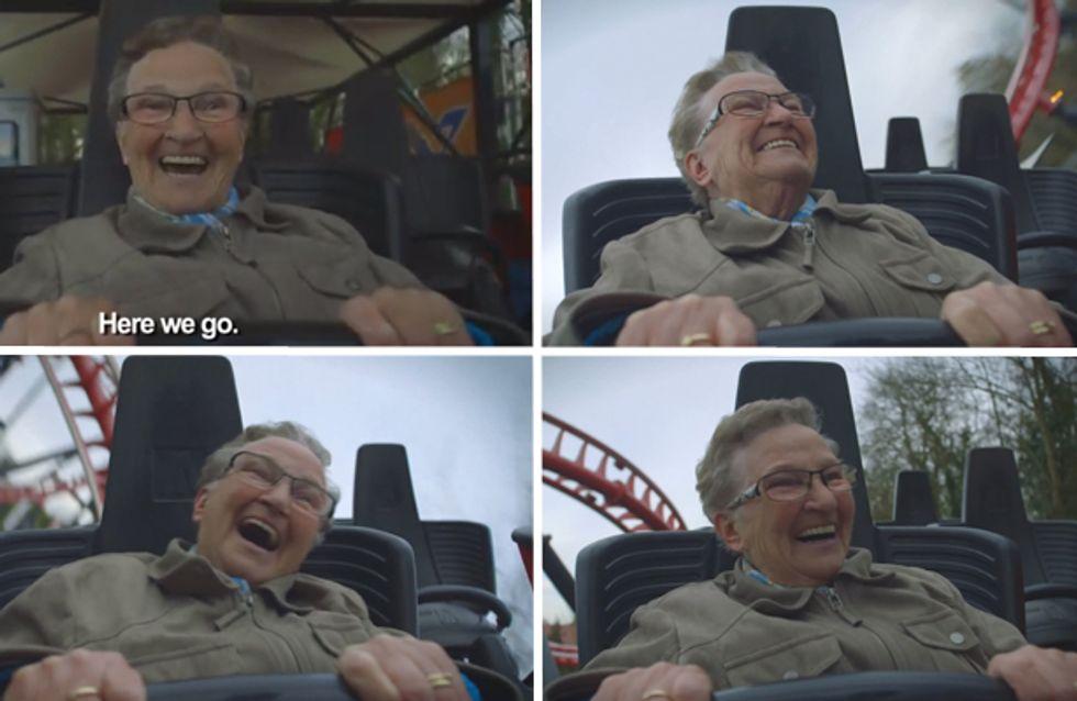 Video/ Prime volte: la reazione della nonna che non è mai stata sulle montagne russe