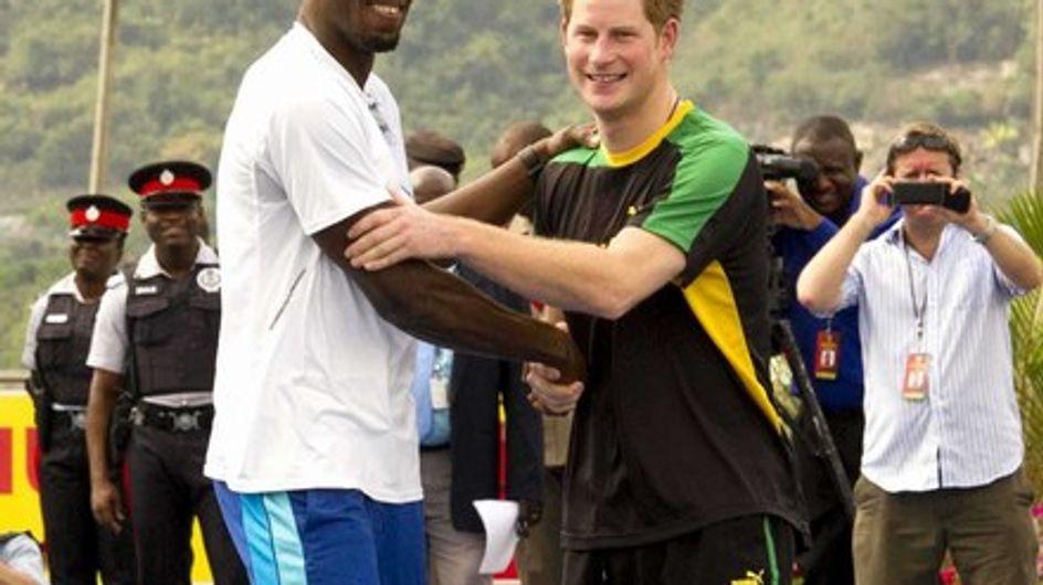 El Príncipe Enrique reta a Usain Bolt, el campeón olímpico de sprint