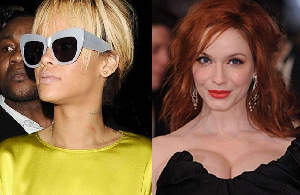 Rihanna y Christina Hendricks se suman a la revolución de las redes