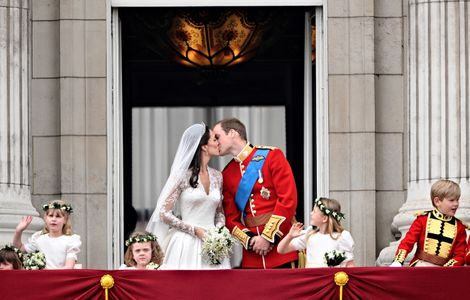 Le baiser de Kate et William