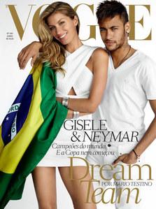 Gisele Bündchen et Neymar pour Vogue