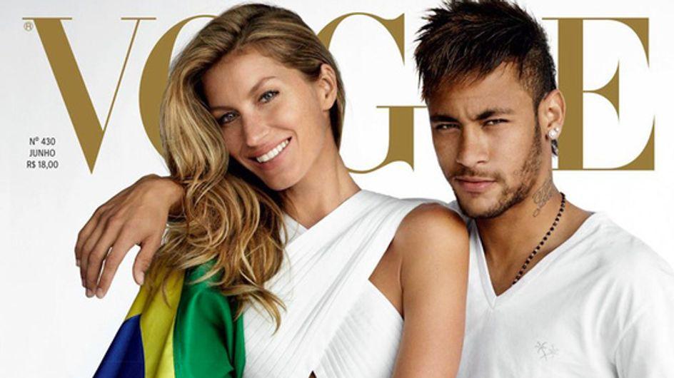 Gisele Bündchen : Sexy en couverture de Vogue avec le footballeur Neymar