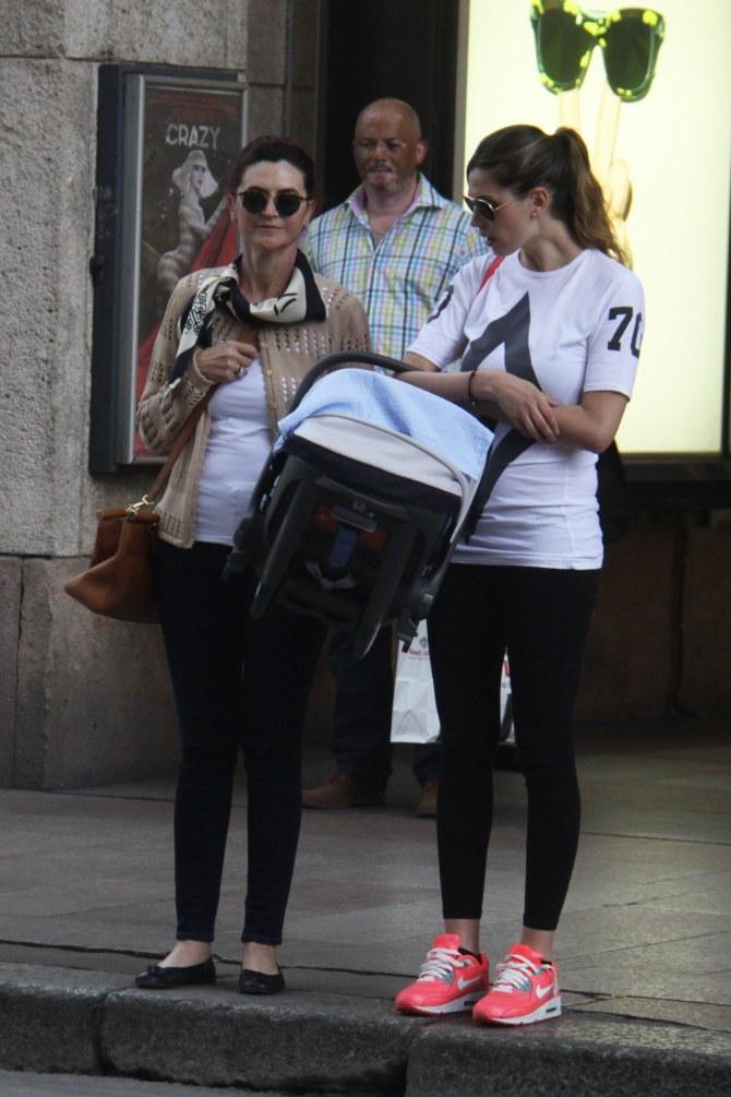 Melissa Satta insieme alla mamma e al piccolo Maddox
