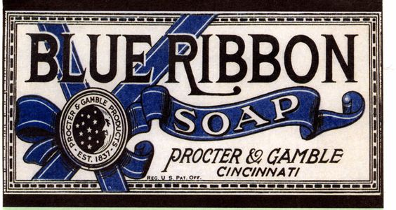 Vecchie pubblicità: sapone Blue Ribbon