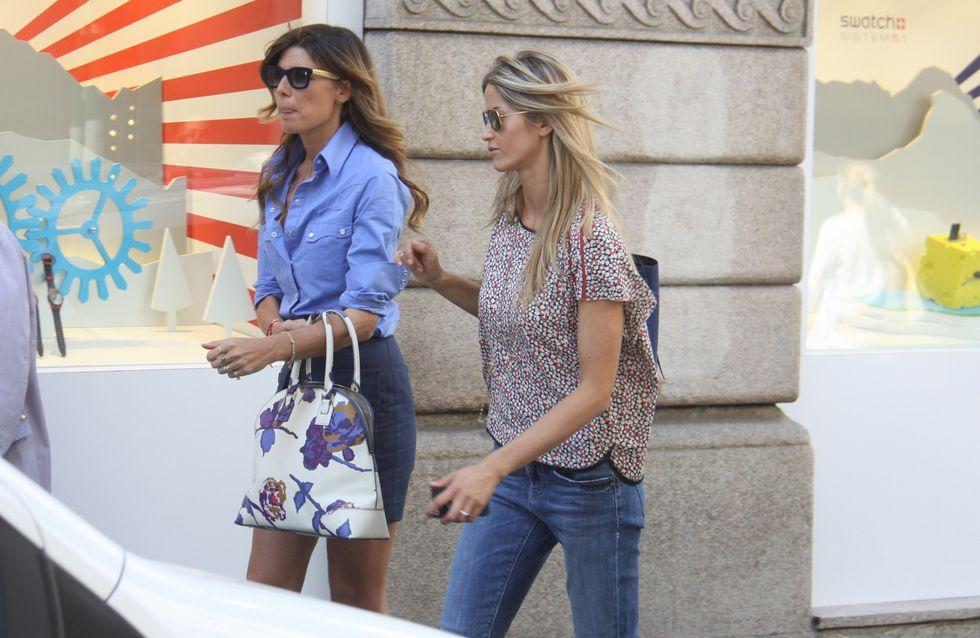 Elena Santarelli: shopping con un'amica alla vigilia delle nozze