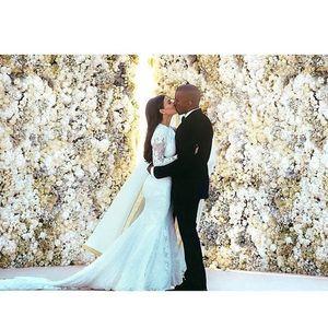 Kim e Kanye nel giorno delle nozze