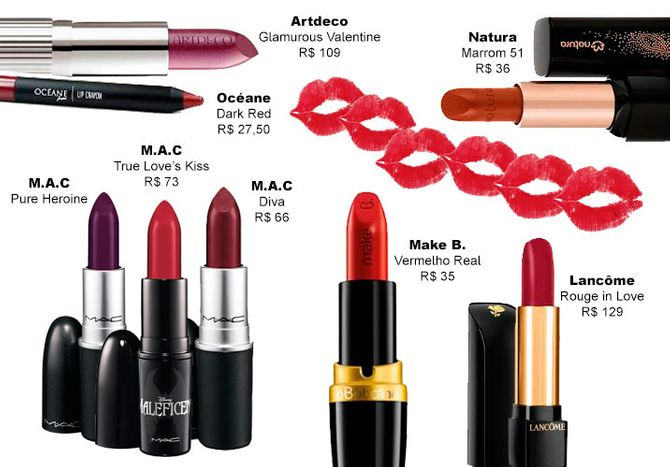 Vermelho, roxo ou marrom?