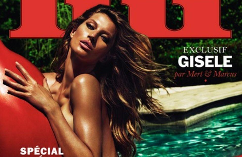Gisèle Bündchen : Complètement nue en couverture de Lui (Photos)