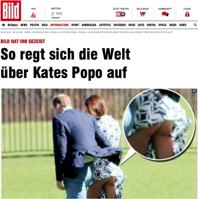 L'immagine della copertina del tabloid tedesco
