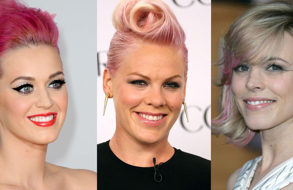 Comme Rihanna, ces stars ont eu les cheveux roses