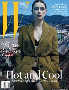Amber Heard en couverture de W Magazine