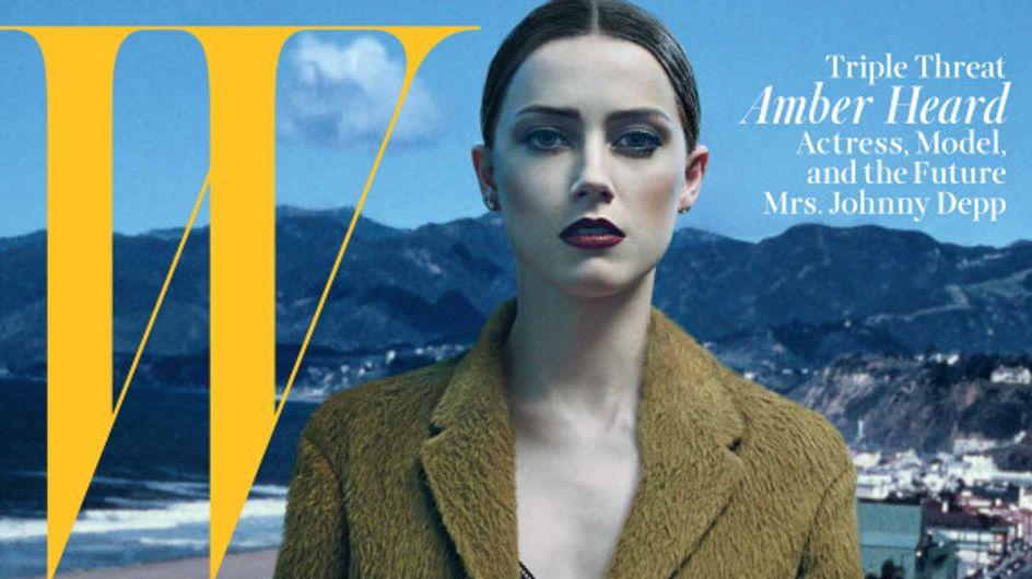Amber Heard : Ses confidences sur Johnny Depp à W Magazine