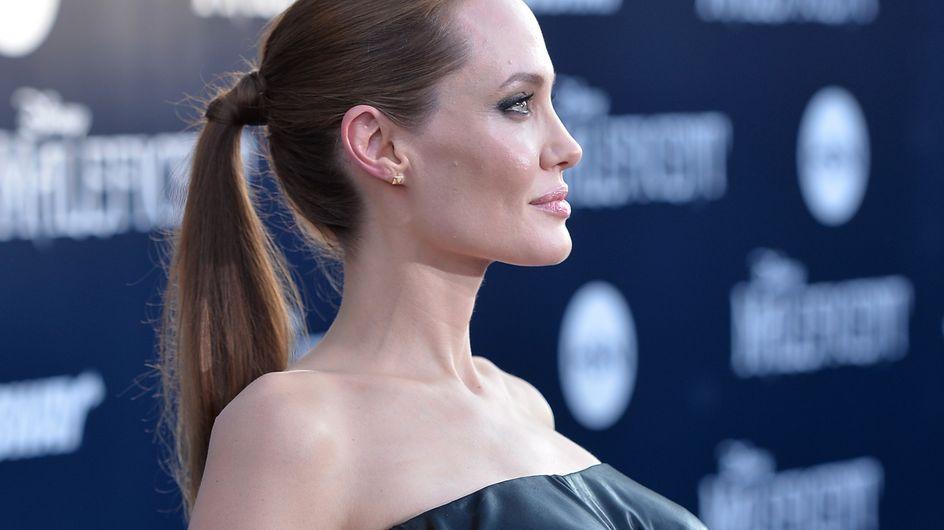 Angelina Jolie : Gothique pour la première américaine de Maléfique (Photos)