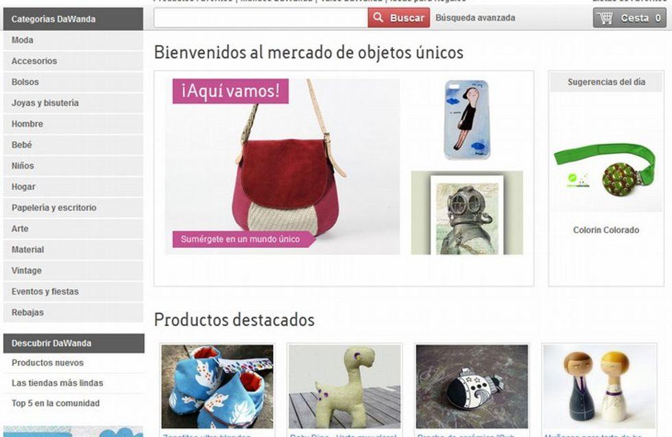 Llega a España DaWanda, el mercado online de productos únicos hechos a mano