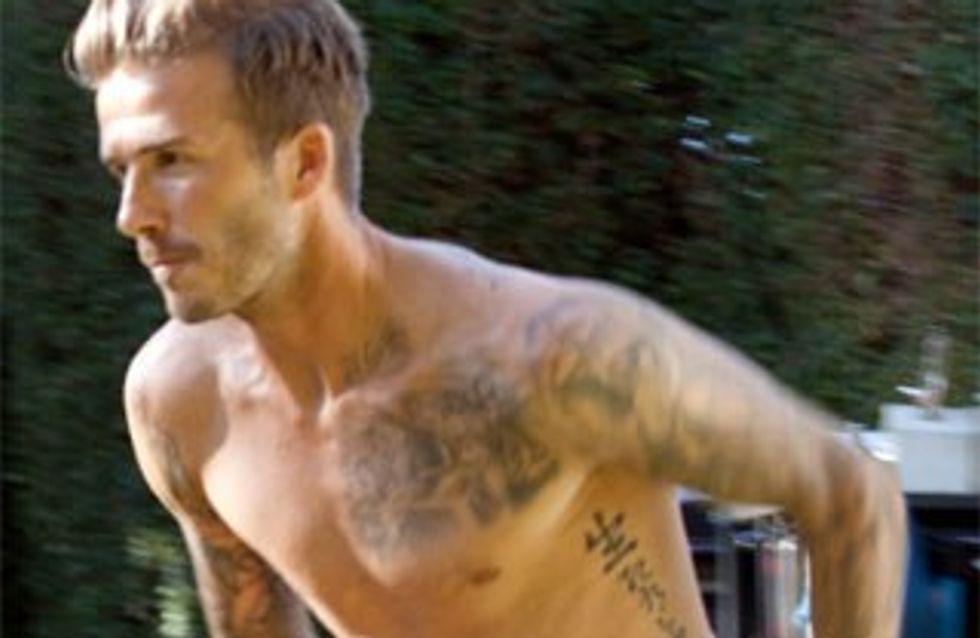 David Beckham corre en calzoncillos