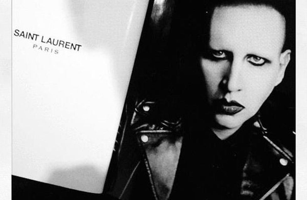 Saint Laurent se rinde a Marilyn Manson