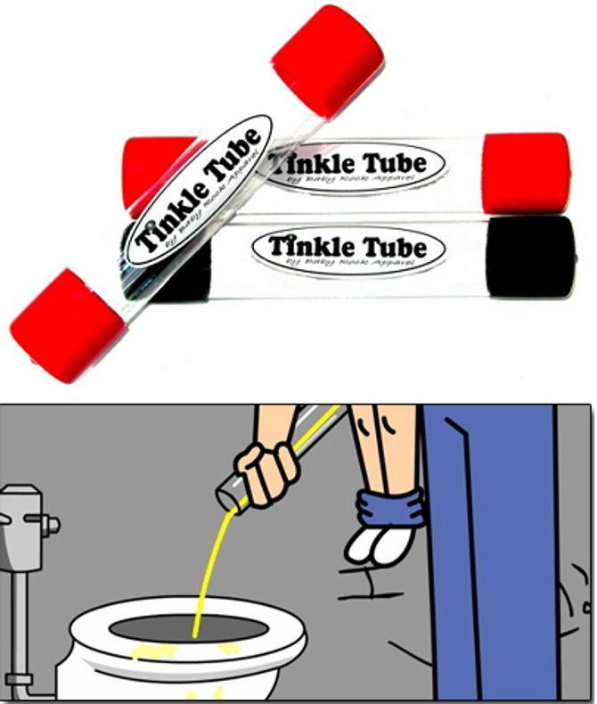 Een tube om pipi te doen (met handleiding)