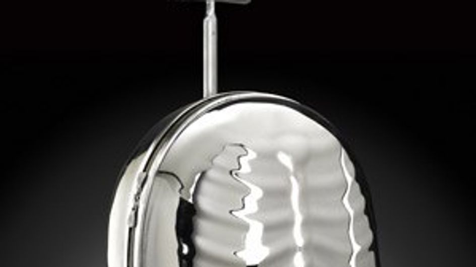 Samsonite Black Label by Alexander McQueen nuevo efecto plateado