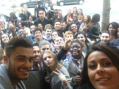 Shanna et Thibault avec leurs fans