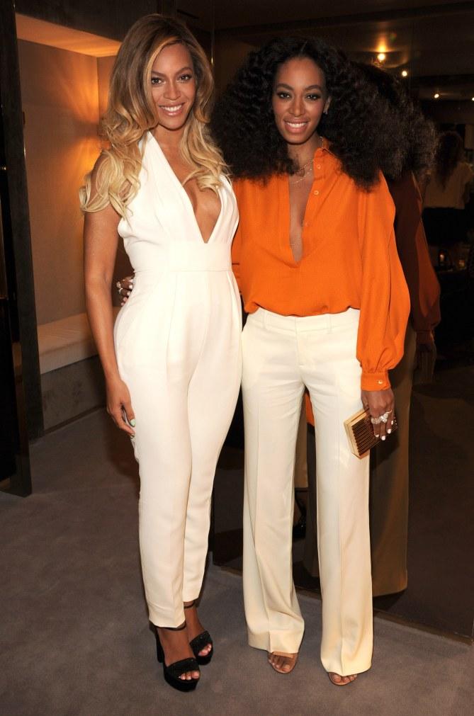 Beyoncé et Solange Knowles le 3 juin 2014