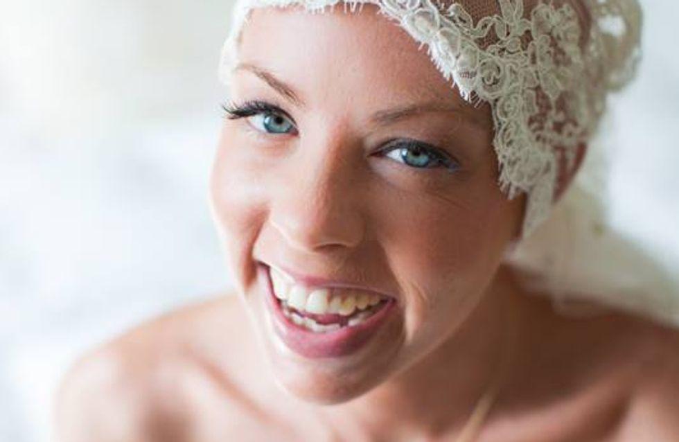 La mariée sans cheveux : Malgré son cancer, cette jeune femme a vécu le plus beau jour de sa vie
