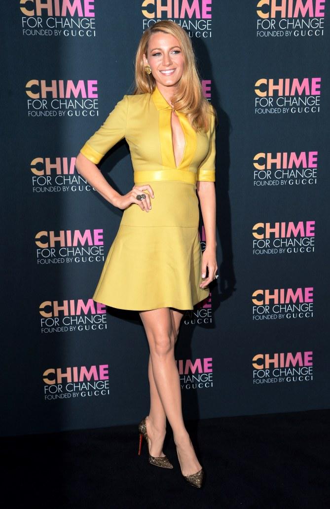 Blake Lively à la soirée Chime For Change Gucci à New York, le 3 juin 2014