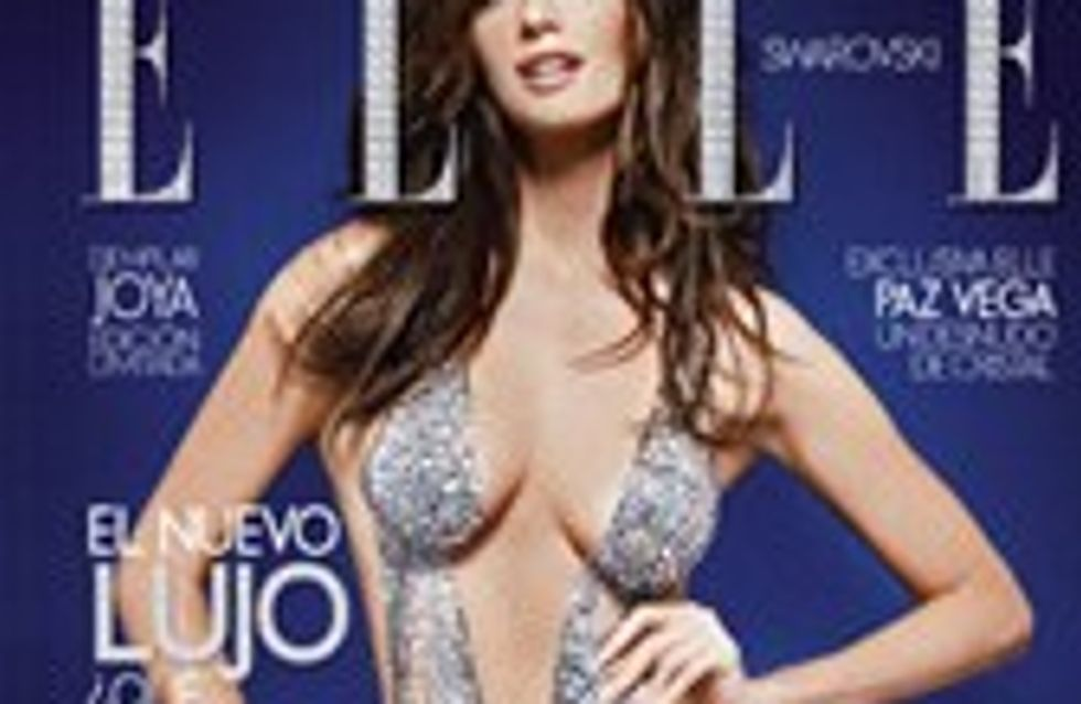 Paz Vega posa desnuda para ELLE cubierta con cristales Swarovski