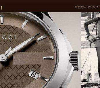 Gucci lanza su nueva web Timepieces