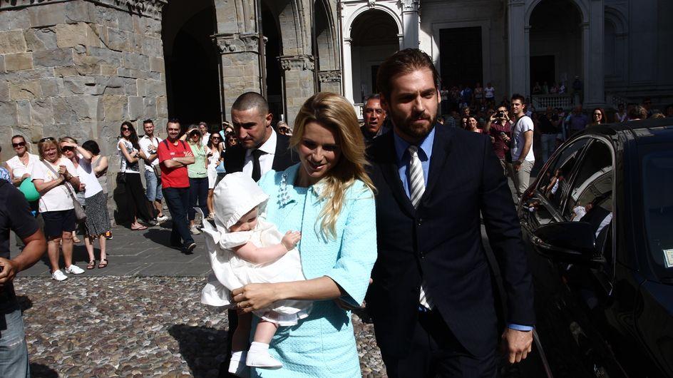 Michelle e Tomaso al battesimo della piccola Sole. Guarda le foto della cerimonia!