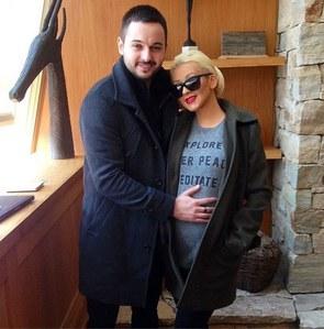 Christina Aguilera et son fiancé Matt Rutler