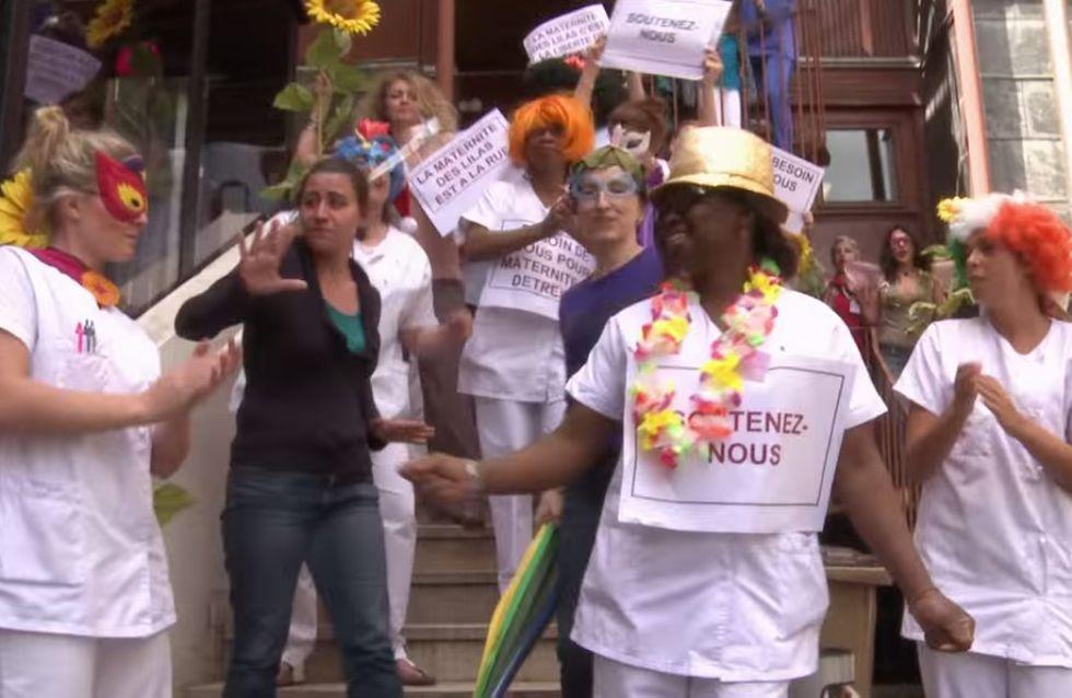 """Ces sages-femmes reprennent """"Happy"""" pour sauver la maternité des Lilas (Vidéo)"""