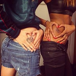 Le nouveau tatouage de Cara Delevingne et Jourdan Dunn