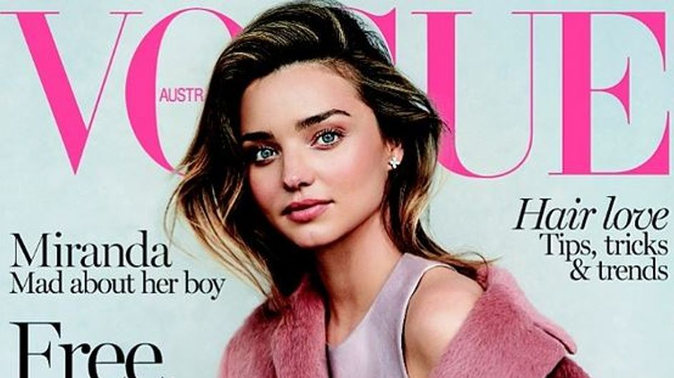 Miranda Kerr : Son fils Flynn mannequin d'un jour pour Vogue