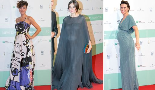 Le star italiane incinta ai David di Donatello