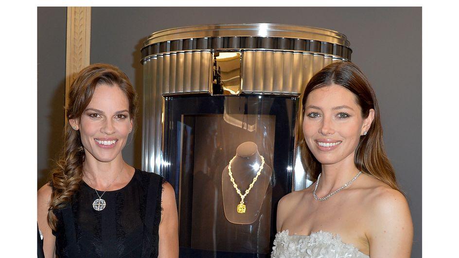 Tiffany & Co inaugure sa nouvelle adresse parisienne avec Jessica Biel et Hilary Swank