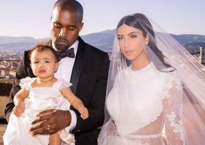 La photo de famille du mariage de Kim Kardashian et Kanye West