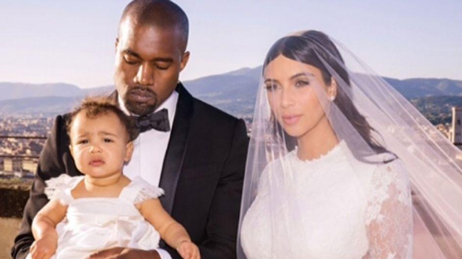 Kim Kardashian, Kanye West et North : Une jolie photo de famille pour leur mariage
